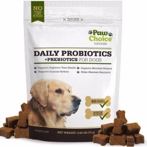 Paw Choice Probiotics for Dogs with Prebiotics