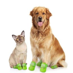 PawEfect Waterproof Dog Boots and Reusable Silicone Pet Shoes