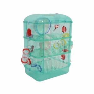 Pawhut 3 Story Happy Hamster Habitat Pet Critter Cage