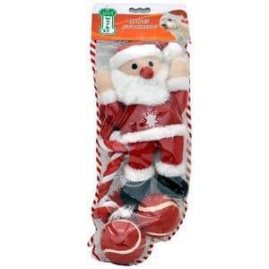 Pet Works Holiday Stocking Set Santa Claus 4 pack