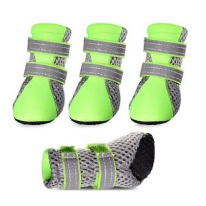 Petsee Dog Boots with Non-slip Soft Sole, Mesh and Reflective Velcro