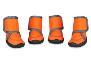 Prumya Waterproof Paw Protectors with Velcro Straps and Rugged Anti-Slip Sole