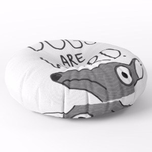 Society6 Dogs Are Weird - Cute Dog Series Floor Pillow
