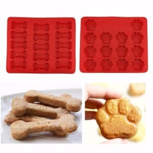 Talented Kitchen Set of Two Doggie Treat Silicone Trays