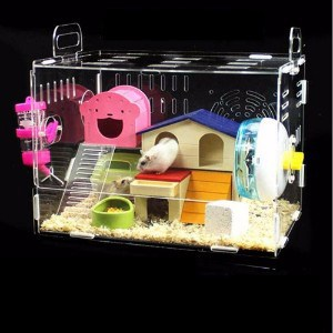 Toparchery Acrylic Hamster Cage