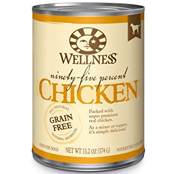 Wellness 95% Chicken Natural Grain Free Wet Canned Dog Food