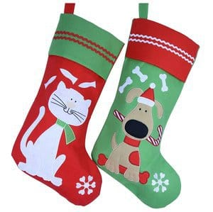 Wewill Lovely Embroidered Pets Pattern Christmas Stockings Dog or Cat 16-Inch Length Dog
