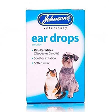 Johnsons Ear Drops for Cats and Dogs Kills Ear Mites