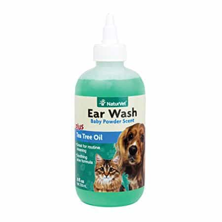 NaturVet Ear Wash Plus Tea Tree Oil for Dogs