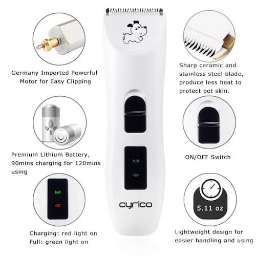 cyrico USB Cordless Pet Clippers