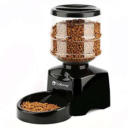 isYoung Automatic Pet Feeder with LCD Screen and Voice Recording