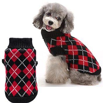 KOOLTAIL Crochet Dog Argyle Sweater