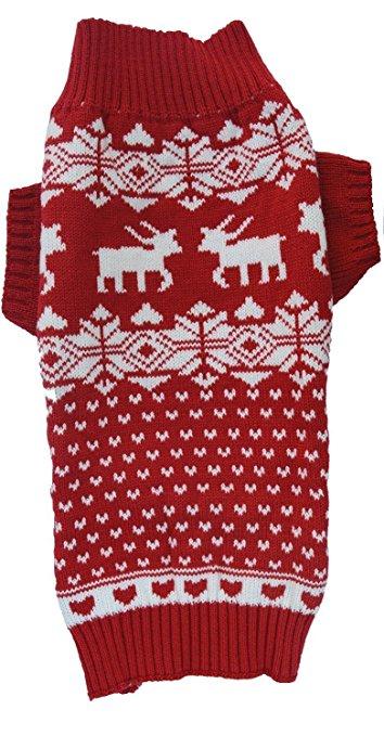 Lanyar Dog Reindeer Holiday Pet Sweater