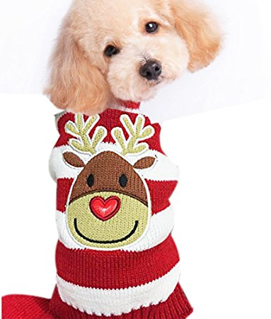 HAPEE Pet Clothes the Christmas Elk Dog Sweater