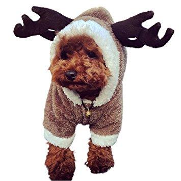 LUCKSTAR Dog Clothes - Pet Clothes Elk Costume