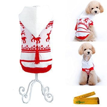 Wiz BBQT Christmas Reindeer Holiday Festive Knitted Pet Sweater