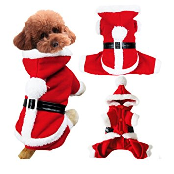 Fakeface Cute Puppy Dog Hoodie Sweater Santa Claus
