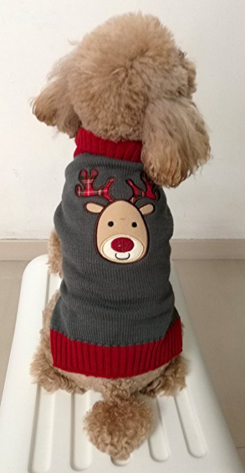 3 HappyPuppy Holiday Festive Reindeer Dog Sweater