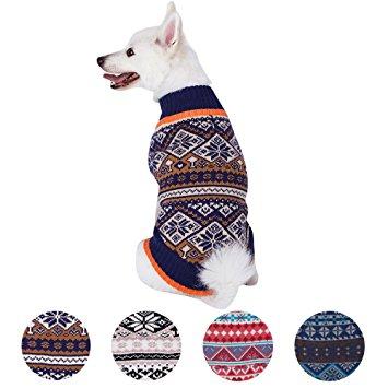 Blueberry Pet 4 Patterns Nordic Pattern Dog Sweater