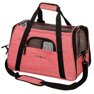 Amazing Pink Pet Carrier by TailHouse stylish & Heavy-Duty Airline Approved Luxury Travel Bag
