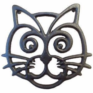Cara's Casa Cat Trivet - Black Cast Iron