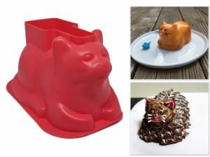 Charlie Cat Mini Cat Shaped Cake Molds (4 Pack, Silicone)