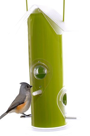 Chilipet - Metal Tube Wild Bird Feeder Attract More Birds Perfect for Garden Decoration
