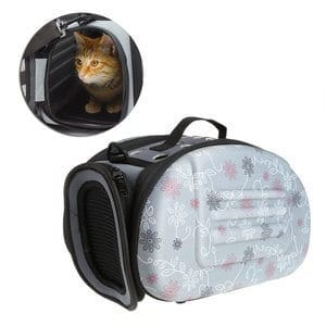 Deboc Portable Pet Small Dog Cat Sided Carrier Travel Tote Shoulder Bag Cage Kennel