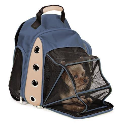 EXPAWLORER Deluxe Mesh Dog Travel Backpack