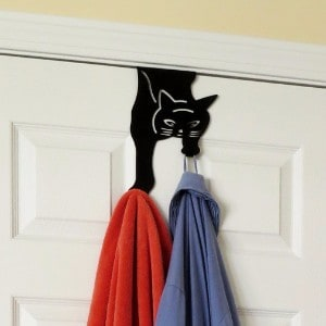 Evelots Over The Door Cat Double Hook Hanger