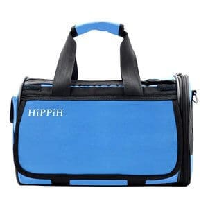 HIPPIH Pet Carrier for Dogs & Cats Comfort Airline Approved Travel Tote Soft Sided Bag