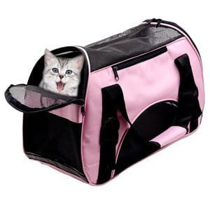 HUANXU - Pet Carrier Dog Cat Soft Sided Airline Approved Small Puppy Travel Bag