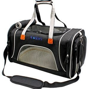 KQRNS - Cat Carrier KQRNS Airline Approved Pet Carrier for Medium Cat Travel Carrier Soft Sided