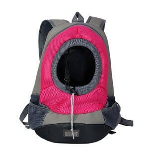 Kathsun - Breathable Double Shouder Dog Cat Pet Carrier Backpack Dog Travel Carrier front Head out dog Carrier for Biking Hiking Trip Shopping