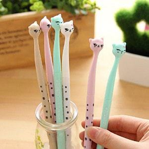 MLM Cute Cartoon Bedroom Eyes Cat Gel Ink Pen Rollerball Pens