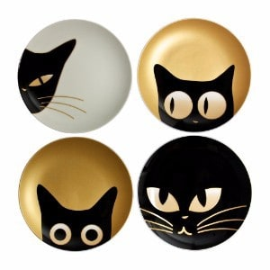 MIYA Plate 6.5 Cat Eyes Set of 4