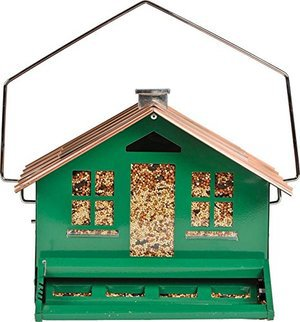 More Birds X-4 Squirrel-Proof Bird Feeder with 15-Pound Bird Seed Capacity and Four Feeding Ports