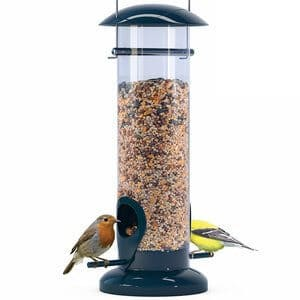 Nibble - Weather Proof Anti-Bacterial Bird Feeder with UV Sun-proof Anti-Bacterial Coating Durable and Disassembles for Quick Easy Cleaning