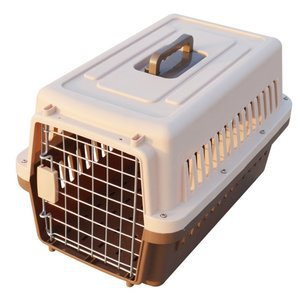 Paw Essentials 19 inch Dog and Cat Pet Carrier and Travel Crate Coffee