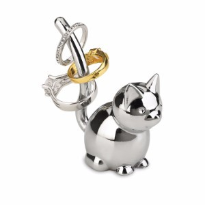 Umbra Zoola Cat Ring Holder, Chrome