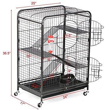 Yaheetech 37'' Metal Ferret Cage Indoor