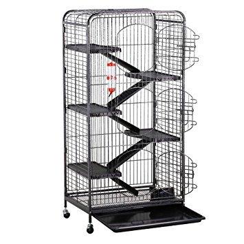 go2buy Metal 3 Doors Rats Rabbit Ferret Cage