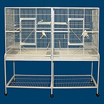 Mcage Wrought Iron Double Cage w/ Slide Out Divider