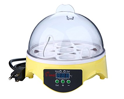 niceEshop(TM) 7 Eggs Mini Automatic Egg Turning Incubator