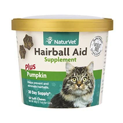 NaturVet Hairball Aid Plus Pumpkin for Cats