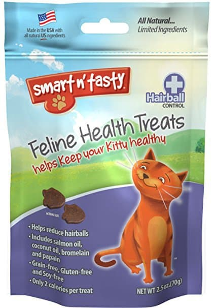Smart n' Tasty Grain Free Cat Hairball Formula Treats