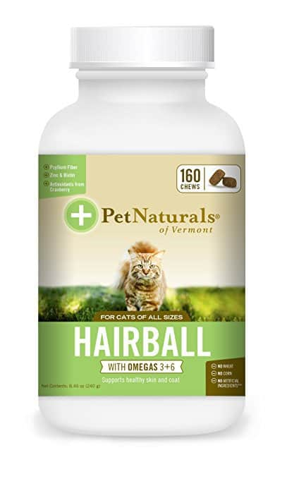 Pet Naturals of Vermont Hairball, Daily Digestive, Skin & Coat Support