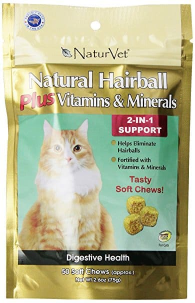 NaturVet Hairball Plus Vitamin Soft Chew