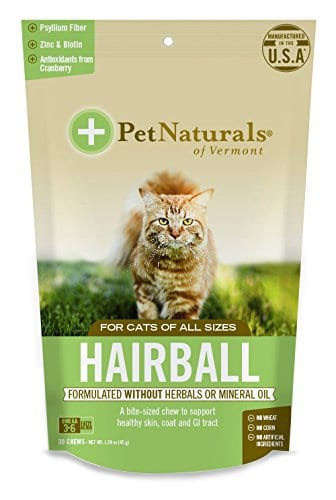 Pet Naturals of VT Hairball Supplements for Cats