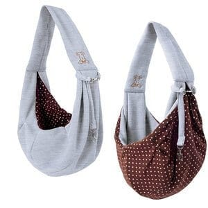 iPrimo - Dog and Cat Hands Free Carrier Sling - Reversible Carrier Bag Papoose